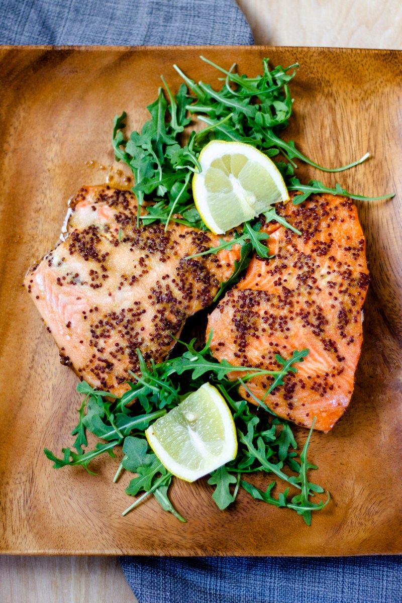 Baked Honey Mustard Salmon
